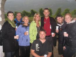 Our gang - 4 americans, 2 new zealanders, 1 swede, and 1 dane. Still having fun - even in the rain., Gwenn B - October 2010