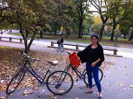My friend Kate posing with our bikes., KellyD - November 2012