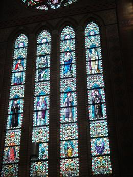In the center of Delft, the window of the church is worth to see., Ediz C - September 2008