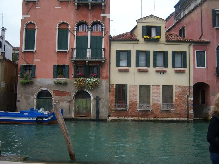 Colorful houses on the canal - Venice