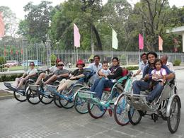 Pedal power: Our small group with our drivers. , Leanne B - April 2011