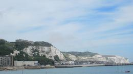 the chalky white cliffs and the waves of the Channel make a beautiful backdrop for the stop., Janet S - August 2010