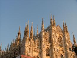 The sun was setting on the Duomo in Milan during our tour., Amelia R - December 2007