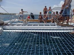 view of the nets where one can layout during the sail.. , Daniel C - July 2012