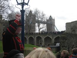 Photo of London Tower of London Entrance Ticket Including Crown Jewels and Beefeater Tour Our Beefeater guide, by the Tower Bridge
