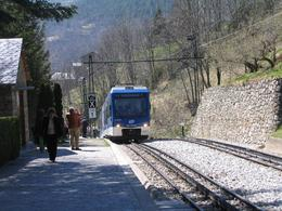 Train pulling into Queralbs station. - April 2008