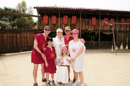A photo of our group upon arrival at the Roman Gladiator School. - July 2008