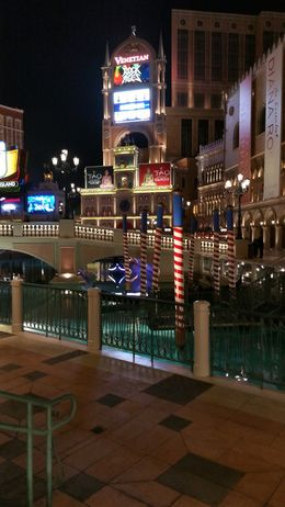 The gondola rides at the Venetian Las Vegas. , ashes - February 2016