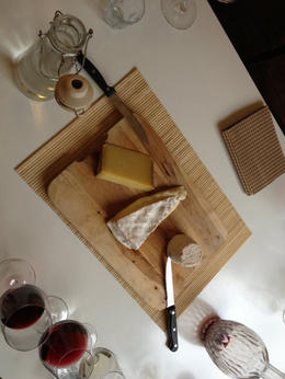 We were able to taste three wonderful and unique cheeses - a Brie, a Comte, and a Chevre, Balti-most - June 2012