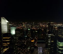 Top of the Rock at night : , Nina - December 2015