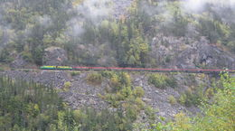 Another photo op as the train passed along the mountain , Richard M - September 2015