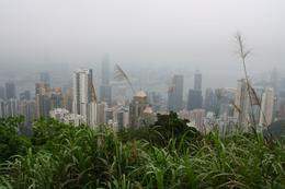 Shame it wasn't a clearer day! Looking down on Hong Kong Island from Victoria Peak., Jessika E - June 2010