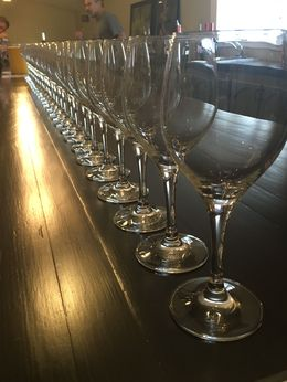 Wine glasses at Sutter Home , Kaitlin H - May 2016