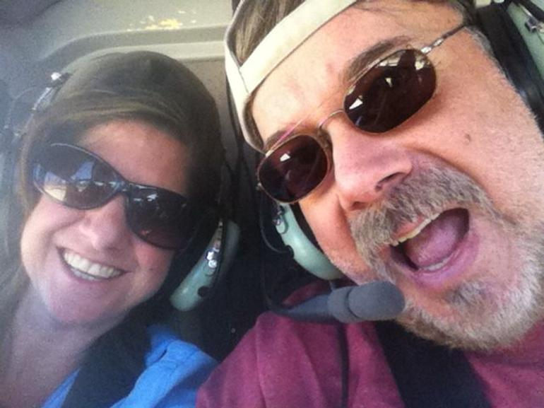 Alesia and Ed in the Helicopter - Las Vegas