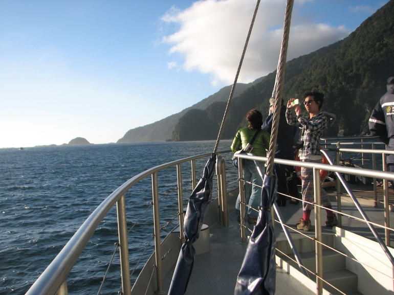 Cruising in Doubtful Sound.