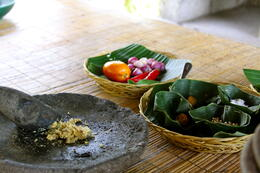 Photo of Bali Balinese Cooking Demonstration and Gulingan Village Countryside Tour Fresh ingredients