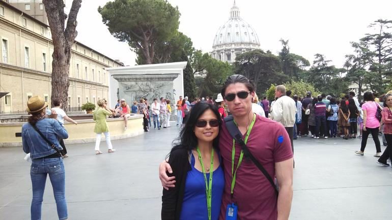 Getting ready to enter SIstine Chapel - Rome