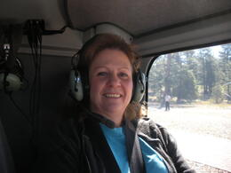 About to fly over the South Rim of the Grand Canyon, charley - June 2011