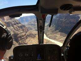 Photo of Las Vegas Grand Canyon All American Helicopter Tour Photo out the front windows of the Grand Canyon.