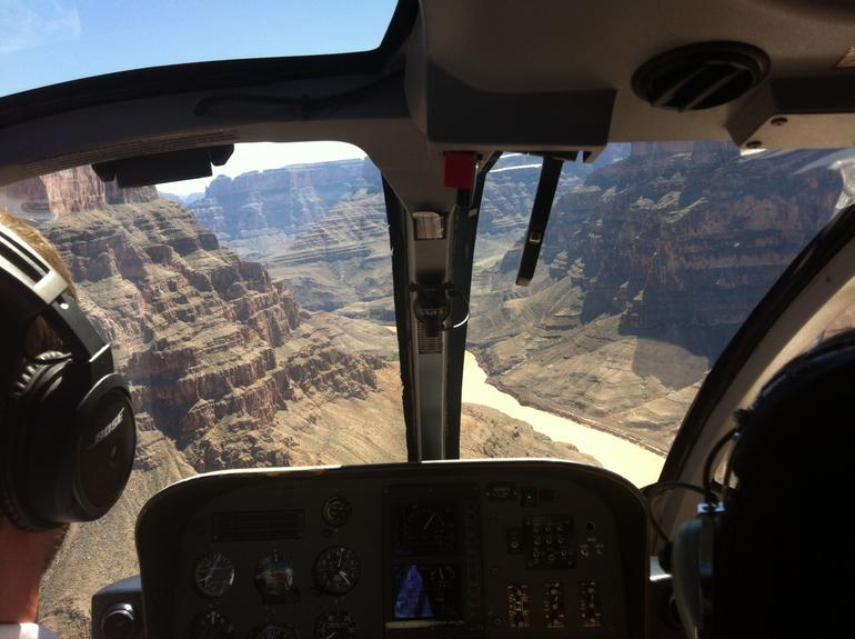Photo out the front windows of the Grand Canyon. - Las Vegas