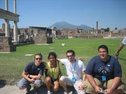 Us in Pompeii in front of the Temple of Jupiter, Brian S - September 2008