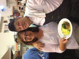 Our busy and entertaining chef didn't mind stopping to take photos. He really was a ham! , Anita G - June 2014
