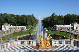 The Samson Fountain and Sea Channel in Peterhof - July 2011