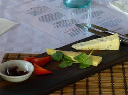 One of two cheese platters at the winery , John K - September 2014