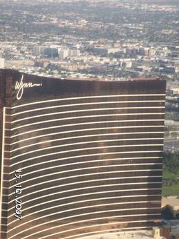 View of the Wynn as we flew over. - October 2007