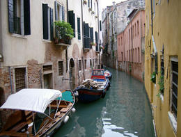 A canal in Venice by Joseph Hunkins via Flickr ~ used under CC-BY license - May 2011