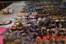 Tasty truffles from the Lady Belgium chocolate shop in Bruges , Jennifer F - June 2013