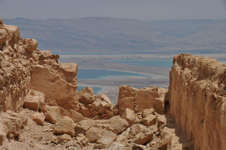 Dead Sea from Masada - Jerusalem