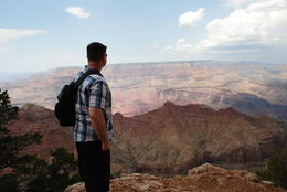 first stop at grand canyon , Bryan V - July 2013