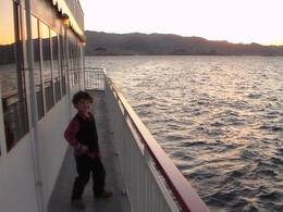 My grandson out on the deck getting ready to watch the sunset, LA_Amons - August 2014