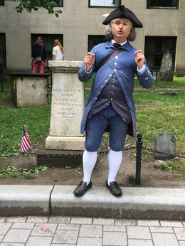 """Isiah Thomas"" was our guide on the walking tour of the Freedom Trail., AM - June 2016"