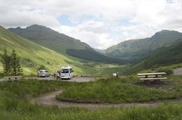 A photo stop on the 'West Highlands Lochs and Castles' tour with a Rabbies mini bus and beautiful view. , Rosemary K - June 2014
