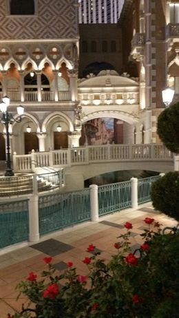 Walkway to the gondola ride at the Venetian Las Vegas hotel. , ashes - February 2016