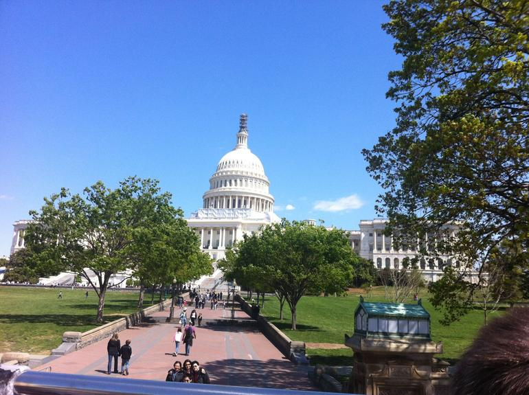 US Capitol from the top of the double decker bus - Washington DC