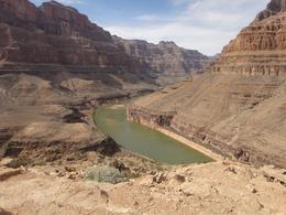 Over looking the river from the landing place on Indian land, Western rim of the canyon. , David Y - April 2013