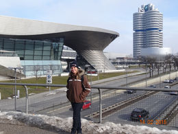 Landscape view of the BMW Headquarters and Museum , Sandra L - February 2015