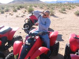 Photo of Las Vegas Hidden Valley and Primm ATV Tour Braden Securing His Valuables!