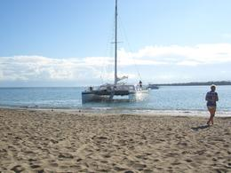 Picture of the boat before we left for snorkeling, Bay of Sosua, Laura C - November 2009