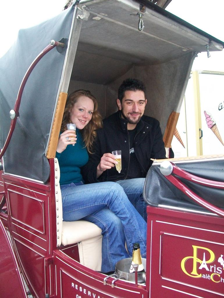 Champagne in the Carriage - Paris