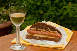 Photo of San Francisco Napa and Sonoma Wine Country Tour Costco pairing: Hotdog with Vino apparently is supposed to be the go to
