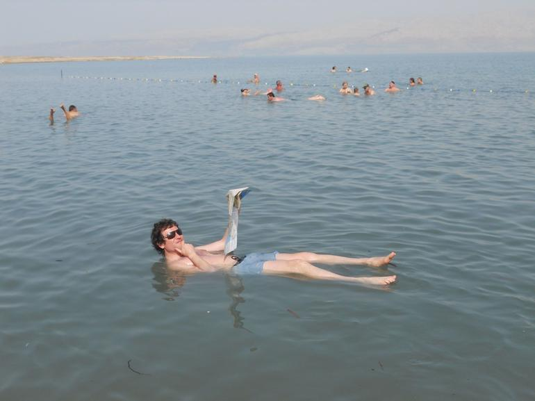 Swimming in the Dead Sea, Jerusalem - Jerusalem