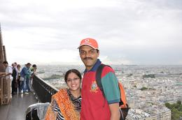 our pic from the 2nd floor of eifel tower, Vinod R - September 2010