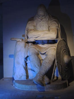 This gigantic statue is in the cellars of Helsingor Castle. , Kevin P - May 2013