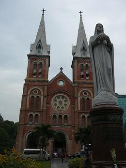 Photo of Ho Chi Minh City Ho Chi Minh Cyclo and Walking Small Group Adventure Tour Notre Dam Cathederal