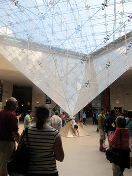 The inverted pyramid at the Louvre was our tour meeting spot. , Ann L - August 2011