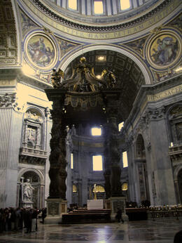Photo of   R Another view of the Papal Altar Area